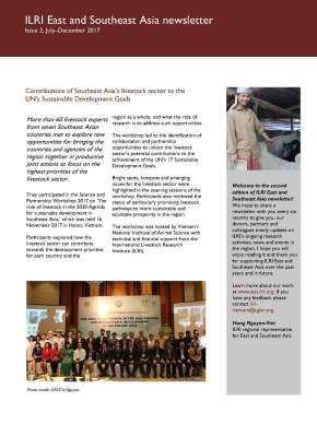 Issue 3 of ILRI East and Southeast Asia Newsletter is nowavailable