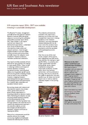 Issue 4 of ILRI East and Southeast Asia Newsletter isout