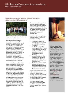 Issue 5 of ILRI East and Southeast Asia Newsletter is nowavailable