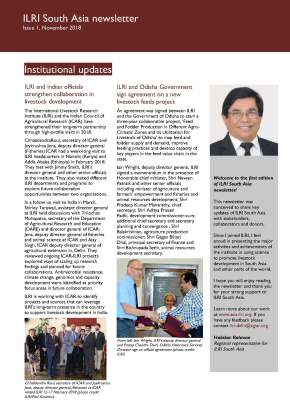 Issue 1 and 2 of ILRI South Asia Newsletter is nowavailable