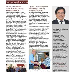 Issue 1 and 2 of ILRI South Asia Newsletter is now available