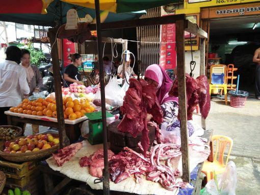 Makara market in Phnom Penh, Cambodia